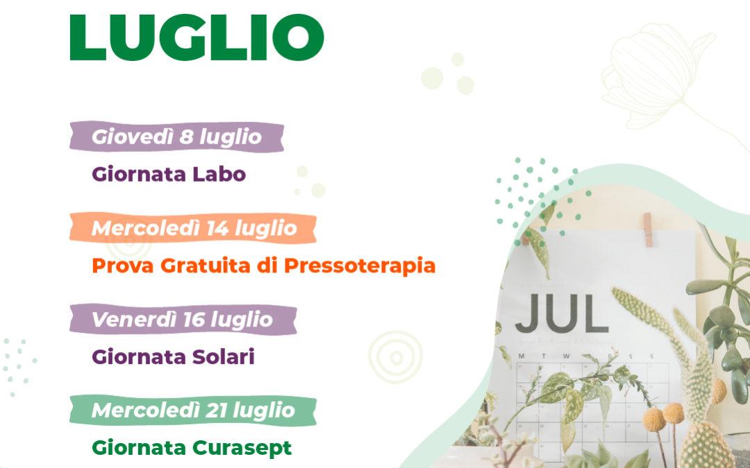 Gli appuntamenti di luglio in farmacia